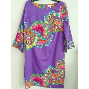 Lily Pulitzer Purple Shauna Butterfly Dress 14